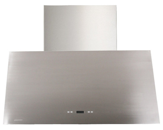 Cavaliere - Cavaliere-Euro SV218T2-36 Stainless Steel Wall Mount Range Hood - Cavaliere Stainless Steel 218W Wall Mounted Range Hood with 6 Speeds, Timer Function, LCD Keypad, Stainless Steel Baffle Filters, and Halogen Lights