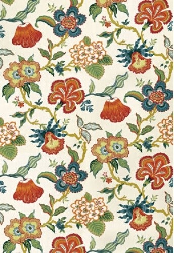 Hothouse Flowers Fabric, Spark contemporary-fabric