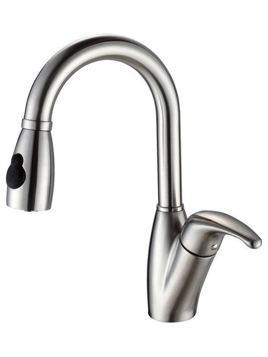 Kraus - Kraus KPF-2121 Single Lever Stainless Steel Pull Out Kitchen Faucet - Update the look of your kitchen with this multi-functional Kraus pull-down faucet