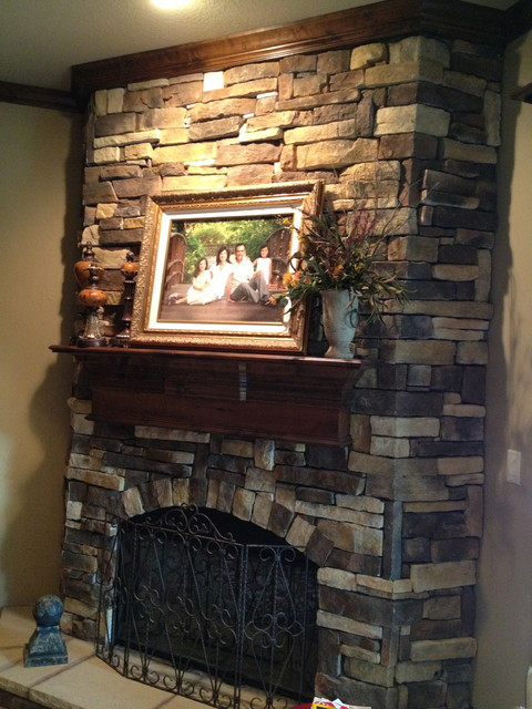 Faux Stone Fireplace Eclectic Dallas By Gigi S