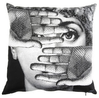 Fornasetti Theme and Variations 16-Inch Pillow eclectic pillows