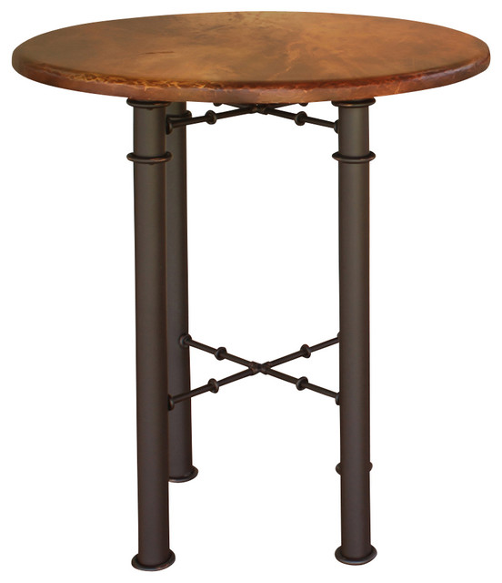 Artisan Home Barstools Round Leg Bistro Table With Copper