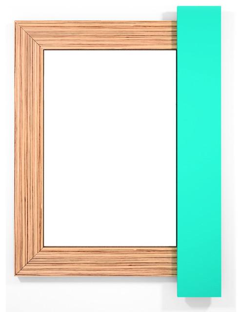 Mango Wall Mirror Zebrawood-Aqua Marine contemporary-mirrors