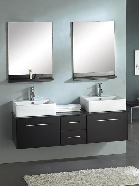 wall mounted dual bathroom vanity modern bathroom vanities and sink