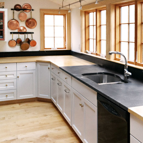 Soapstone counter with undermount sink cutout kitchen-countertops