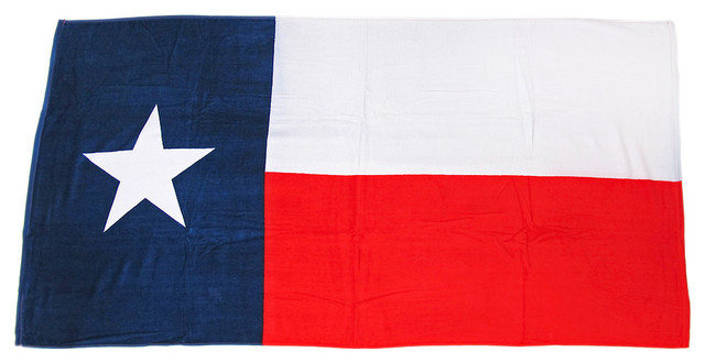 Texas Flag Beach Towel 60 Inches X 30 Inches Texan Lone Star Eclectic Towels By Zeckos