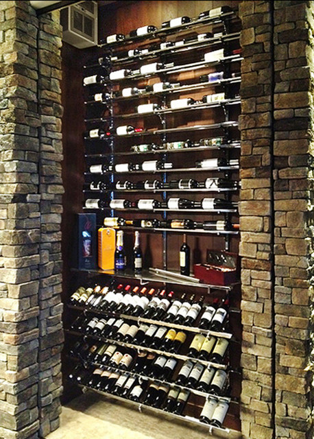Reserve custom fitted wine rack contemporary wine cellar - Small space wine racks design ...