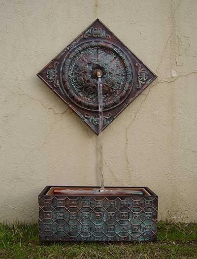 Medallion Wall Fountain eclectic indoor fountains