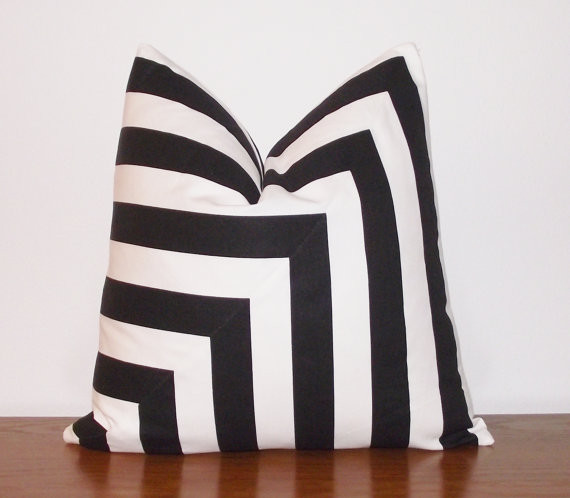 Decorative Pillow Cover Black And White Stripes By Kassapanola contemporary-decorative-pillows