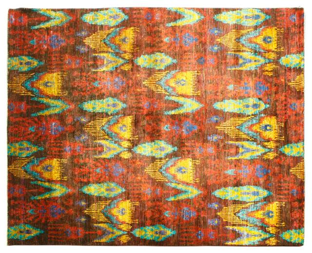 Oriental Rug Hand Knotted Rug Sari Silk Suzani Sh6645 traditional-rugs
