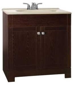 american classics renditions vanity in java oak with solid
