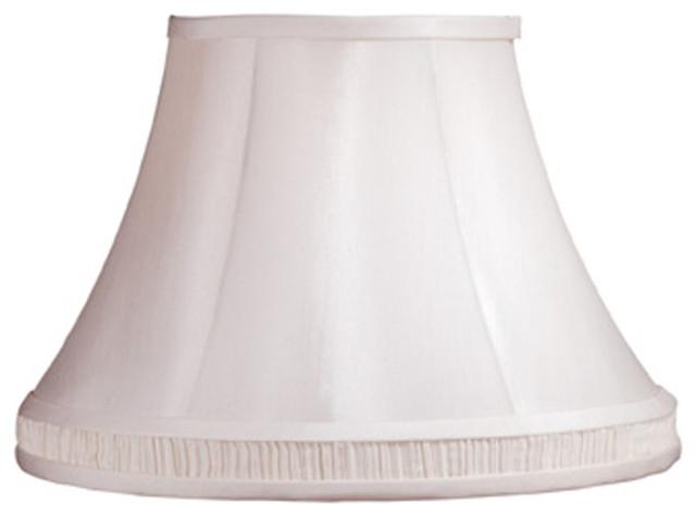 "Laura Ashley SLL334 Amberley 14"" White Fabric Bell Shade contemporary-lamp-shades"