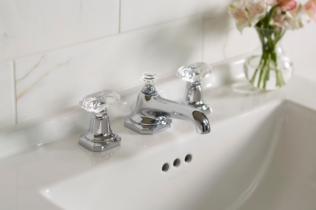 For loft by michael s smith basin faucet set crystal - Gold bathroom faucets with crystal handles ...
