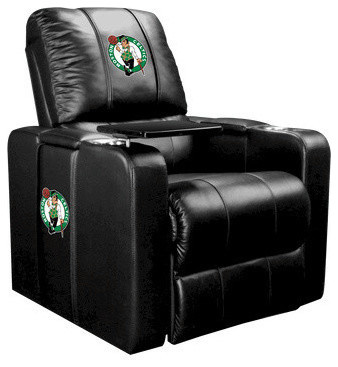 Boston Celtics NBA Home Theater Plus Leather Recliner traditional-armchairs-and-accent-chairs