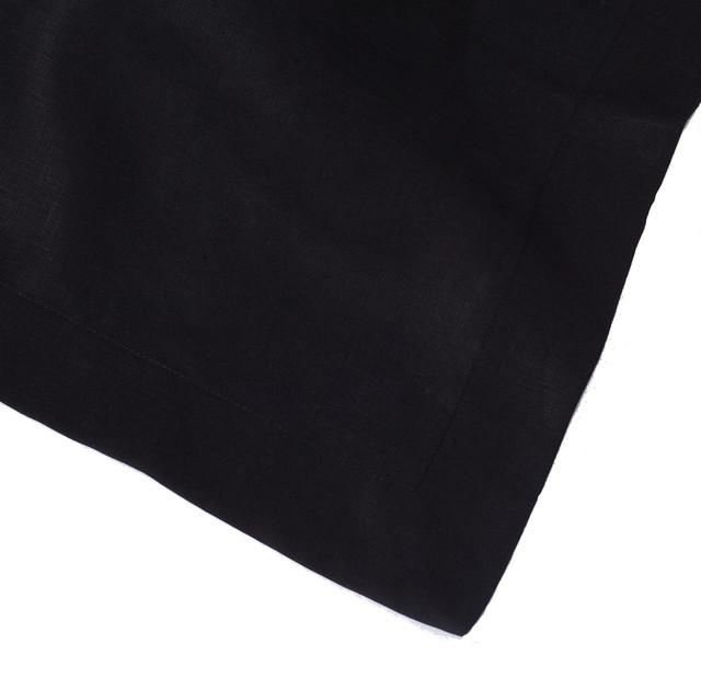 Black Linen Napkin (Set of Four) contemporary-napkins