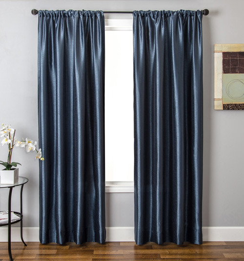 Blindsgalore Signature Drapery Panel: Silk Road Solid traditional-curtains