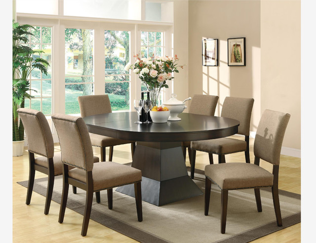 wood oval dining room set leaf table chairs contemporary dining sets