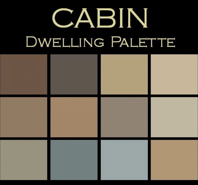Color in Space Cabin Palette warm cozy Rustic