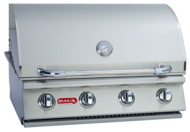 4-Burner 30'' SS Built-In Gas Barbecue Grill, Liquid Propane contemporary-outdoor-grills