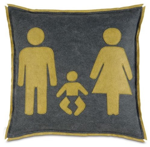 Man, Woman and Baby Pillow modern-decorative-pillows