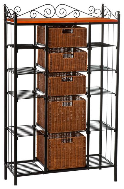 rancho 5 drawer baker 39 s rack contemporary baker 39 s racks by shop chimney. Black Bedroom Furniture Sets. Home Design Ideas