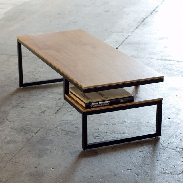 Gus modern ossington coffee table coffee tables modern Wood and steel furniture