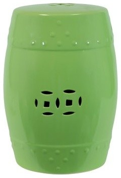 Isola Ceramic Garden Stool - Chartreuse modern-patio-furniture-and-outdoor-furniture