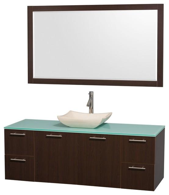Amare Wall Mounted Bathroom Vanities Sets contemporary-bathroom-vanities-and-sink-consoles