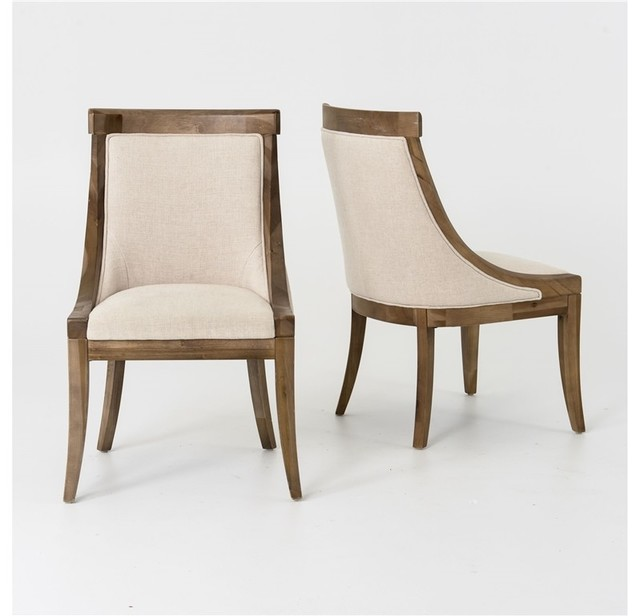 Florence Dining Chair, Bespoke Natural - Transitional ...