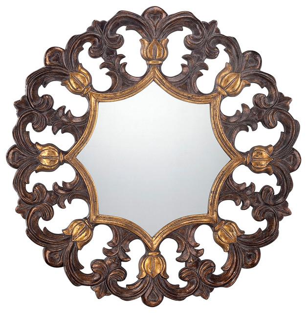 Savoy House 4-Blgf409Et-228 Round Mirror contemporary-wall-mirrors