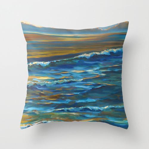Ocean Blue Decorative Pillows : Ocean Pillows - Blue Light - Tropical - Decorative Pillows - los angeles - by APC Fine Arts ...