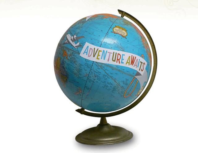 'Adventure Awaits' Globe contemporary-home-decor