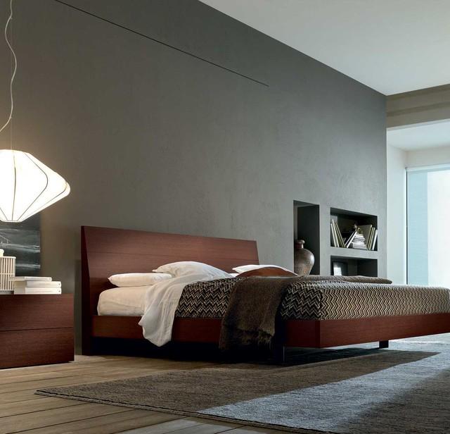 Ken Wooden Bed eclectic-beds