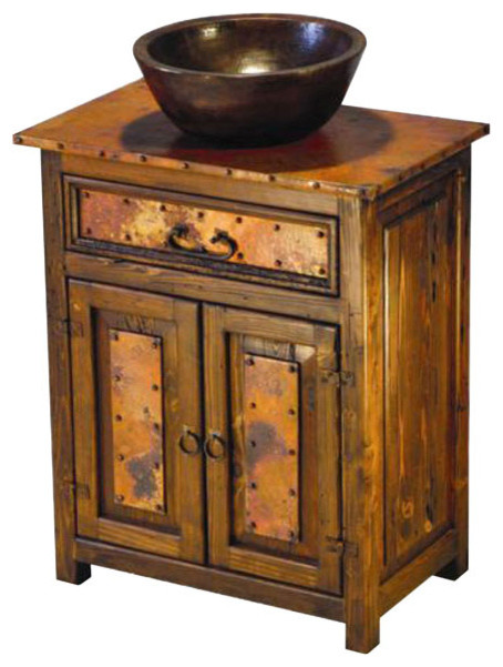 Original Large Copper Canyon Sink Vanity  Rustic  Bathroom Vanities And Sink