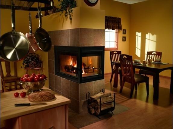 Heatilator FL92 Pier Wood Fireplace Contemporary