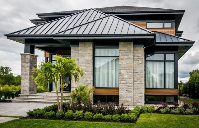 Modern house with black aluminium windows - Modern - Windows And Doors ...