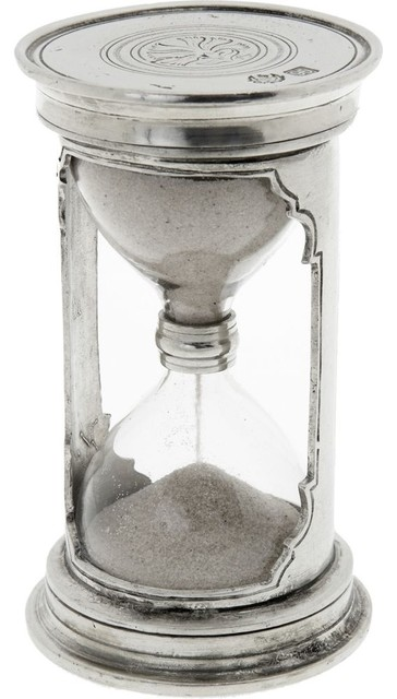 Match Small Pewter Hourglass traditional-desk-accessories