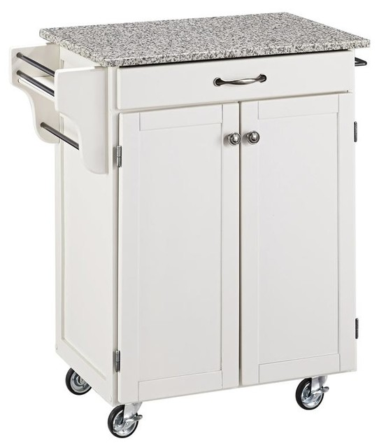 Cuisine Cart in White Finish contemporary-kitchen-islands-and-kitchen-carts