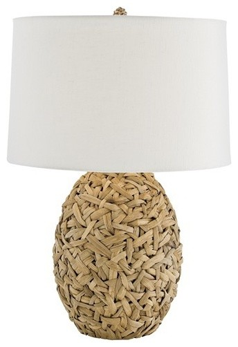Camen Woven Natural Lily Grass Lamp modern-lighting