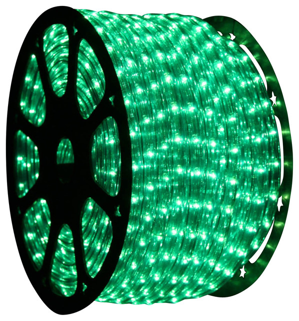 inch 150 ft led green rope light contemporary holiday lighting