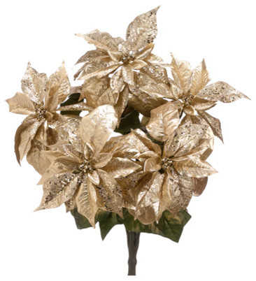 glittery appliques for christmas poinsettias