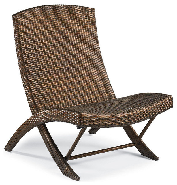 Frontgate Balencia Folding Chair Traditional Outdoor Folding Chairs by