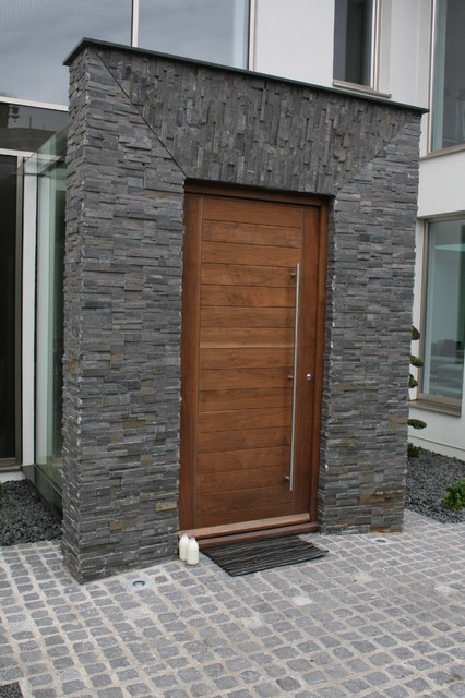 Albion hill contemporary front doors other metro - Wall in front of main door ...