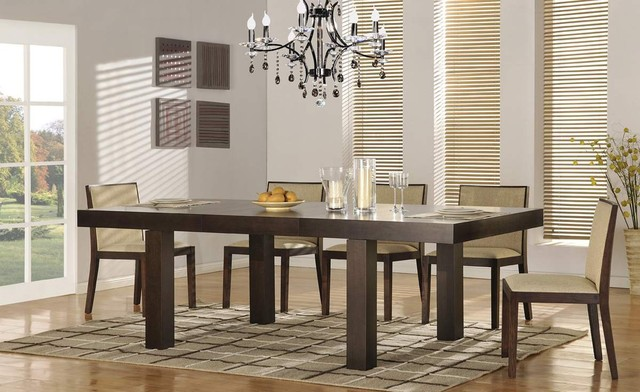 Contemporary Extendable 5 Pc Dinner Set Contemporary