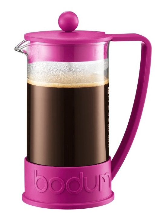 Bodum New Brazil 8-Cup French Press Coffee Maker, Pink -