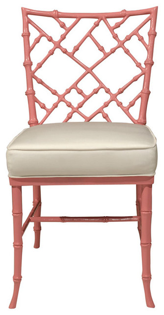 Pink Faux Bamboo Chair Asian Armchairs And Accent
