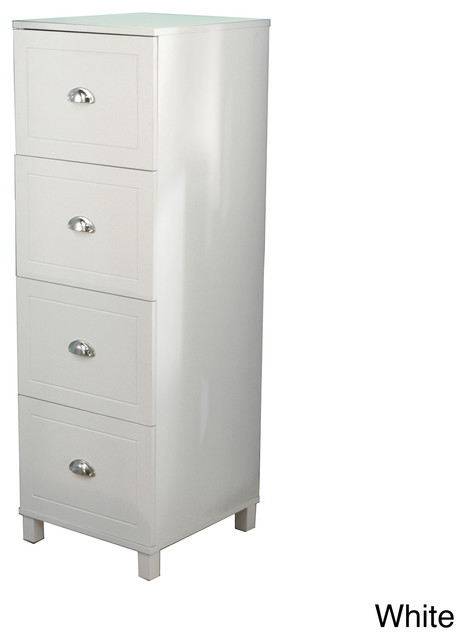 Simple Living Bradley 4-drawer Filing Cabinet - Contemporary - Filing Cabinets - by Overstock.com