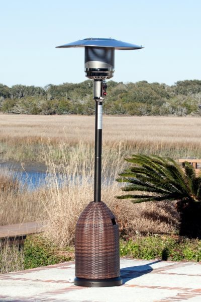 Fire Sense All Weather Wicker Patio Heater contemporary-fire-pits