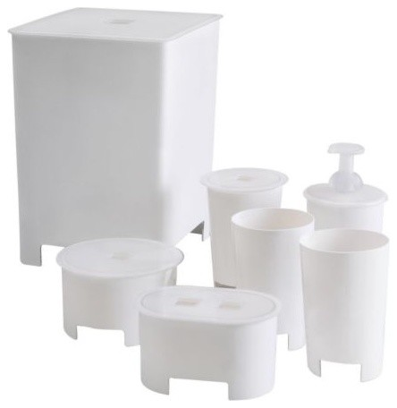 Viren 7 piece bathroom set contemporary bathroom accessories by ikea - Bathroom accessories sets ikea ...
