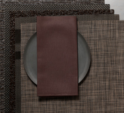 Chilewich Linen Napkin - Chocolate, Set of Eight contemporary-napkins